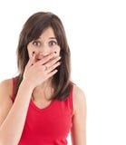 Adolescente cubra su boca Fotografía de archivo libre de regalías