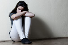 Adolescente déprimée Photographie stock libre de droits
