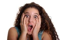 Adolescente dada una sacudida eléctrica Fotografía de archivo