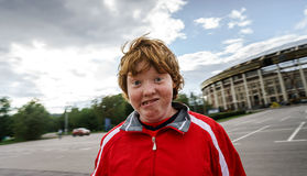 Adolescente dai capelli rossi Fotografie Stock Libere da Diritti