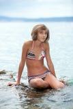 Adolescente dans le bikini Image libre de droits