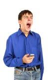 Adolescente de bocejo Fotografia de Stock Royalty Free