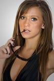 Adolescente de cabelo impressionante de Brown foto de stock royalty free