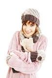 Adolescente de congelación Imagen de archivo