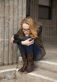 Adolescente de Drepressed Imagenes de archivo