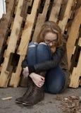 Adolescente de Drepressed Imagen de archivo libre de regalías
