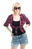 Adolescente de Fashionale con las gafas de sol Fotografía de archivo libre de regalías