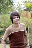 Adolescente de Googlooking Imagen de archivo