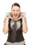 Adolescente de griterío Imagen de archivo libre de regalías