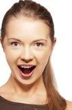 Adolescente de griterío feliz Foto de archivo