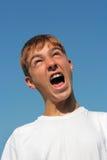 Adolescente de grito Fotos de archivo