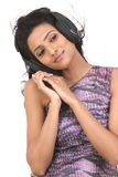 Adolescente de Indan que aprecia a música Imagem de Stock Royalty Free