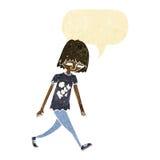 adolescente de la historieta con la burbuja del discurso Imagen de archivo libre de regalías