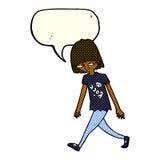 adolescente de la historieta con la burbuja del discurso Foto de archivo