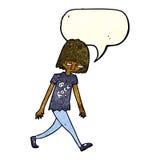 adolescente de la historieta con la burbuja del discurso Fotos de archivo libres de regalías
