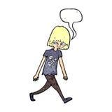 adolescente de la historieta con la burbuja del discurso Imágenes de archivo libres de regalías