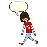 adolescente de la historieta con la burbuja del discurso Fotos de archivo