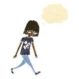 adolescente de la historieta con la burbuja del pensamiento Imagen de archivo libre de regalías