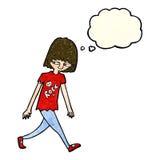 adolescente de la historieta con la burbuja del pensamiento Fotografía de archivo libre de regalías