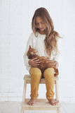 Adolescente de la manera Foto de archivo