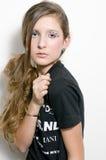 Adolescente de la manera con los latigazos especiales del ojo imagen de archivo libre de regalías