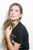 Adolescente de la manera con los latigazos especiales del ojo fotos de archivo libres de regalías
