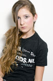 Adolescente de la manera con los latigazos especiales del ojo foto de archivo libre de regalías