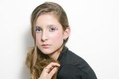 Adolescente de la manera con los latigazos especiales del ojo fotos de archivo