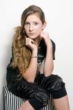 Adolescente de la manera con los latigazos especiales del ojo Imágenes de archivo libres de regalías