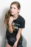 Adolescente de la manera con los latigazos especiales del ojo Imagen de archivo