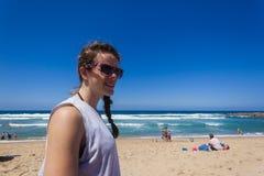 Adolescente de la muchacha de la playa Imágenes de archivo libres de regalías