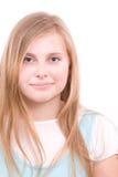 Adolescente de la muchacha en blanco Fotografía de archivo