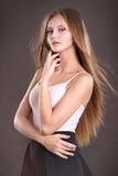 Adolescente de la muchacha en estudio Fotografía de archivo libre de regalías