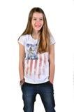 Adolescente de la risa Fotografía de archivo