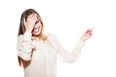 Adolescente de la risa Fotografía de archivo libre de regalías