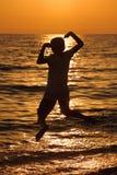 Adolescente de la silueta Fotografía de archivo libre de regalías