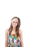 Adolescente de la sonrisa Fotografía de archivo libre de regalías