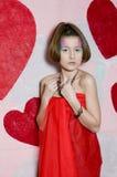 Adolescente de la tarjeta del día de San Valentín Fotografía de archivo