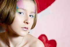 Adolescente de la tarjeta del día de San Valentín Fotografía de archivo libre de regalías