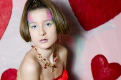 Adolescente de la tarjeta del día de San Valentín Imagen de archivo libre de regalías