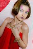 Adolescente de la tarjeta del día de San Valentín Fotos de archivo