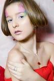 Adolescente de la tarjeta del día de San Valentín Foto de archivo