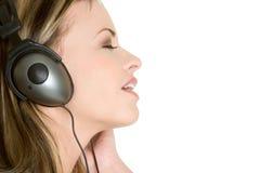 Adolescente de los auriculares Fotografía de archivo