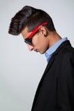 Adolescente de moda con la cresta del pelo Imagenes de archivo