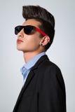 Adolescente de moda con la cresta del pelo Fotografía de archivo