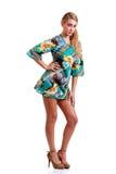 Adolescente de moda en el vestido 70s Imagen de archivo