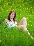 Adolescente de pelo largo Foto de archivo
