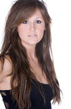 Adolescente de pelo largo imponente Foto de archivo