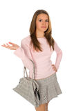 Adolescente de Pritty con el bolso Imagen de archivo