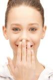 Adolescente de risa Imagen de archivo libre de regalías